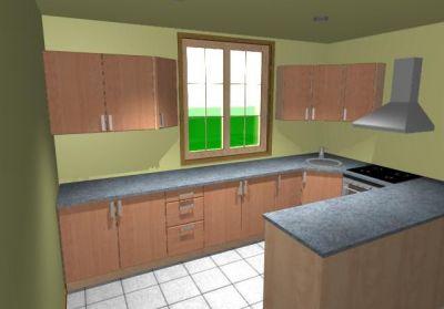 """Návrhy kuchyňských sestav - Do tvaru """"U"""""""